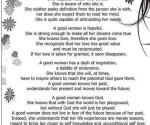 Photo Quote – A Good Woman