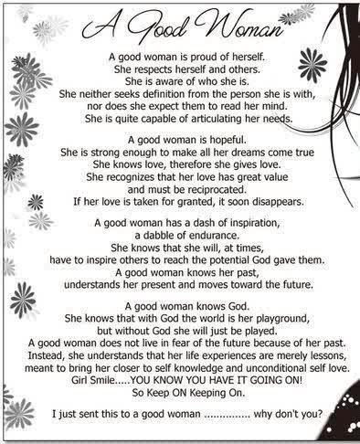 What Are The Qualities Of A Good Woman